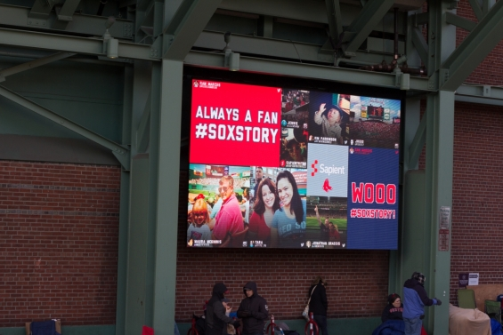 2014 Boston Red Sox Opening Day - Social Media Board