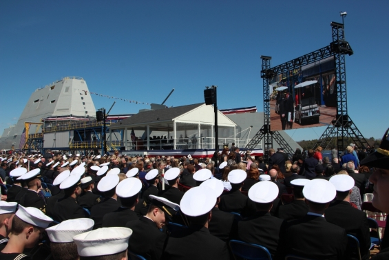 Christening of USS Zumwalt