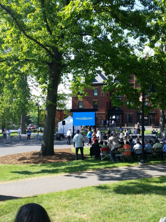 2015 Mount Holyoke College Commencement - Overflow Viewing Area