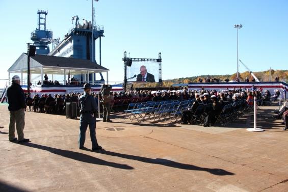 Christening of USS Rafael Peralta