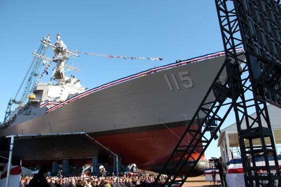 Christening of USS Rafael Peralta